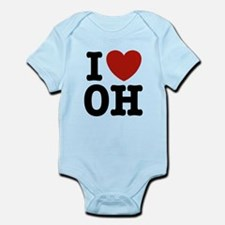 I Love OH Infant Bodysuit