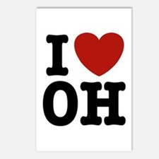 I Love OH Postcards (Package of 8)