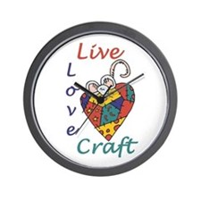 Mouse Love Craft Wall Clock