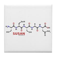 Susan name molecule Tile Coaster