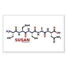Susan name molecule Rectangle Decal