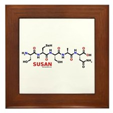 Susan name molecule Framed Tile