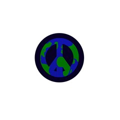 Earth Peace Sign Small Buttons (100 pack)