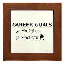 Firefighter Career Goals - Rockstar Framed Tile
