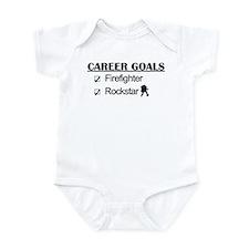 Firefighter Career Goals - Rockstar Infant Bodysui