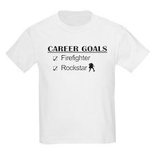 Firefighter Career Goals - Rockstar T-Shirt