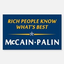 Rich People Know Best Palin Rectangle Decal