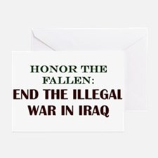 END IRAQ WAR! Greeting Cards (Pk of 10)