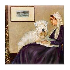 Mom's Wheaten Terrier Tile Coaster