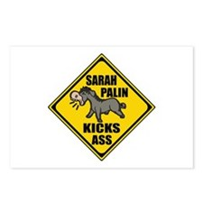 Palin Kicking Ass Sign Postcards (Package of 8)