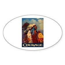 COURAGE 2 Oval Decal