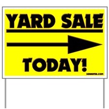 YARD SALE TODAY! (Right Arrow) Yard Sign