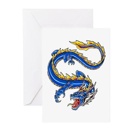 Blue Monster Tattoo Art Greeting Cards (Pk of 20)