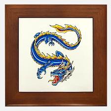 Blue Monster Tattoo Art Framed Tile