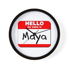 Hello my name is Maya Wall Clock