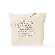 Standard Disclaimer Tote Bag