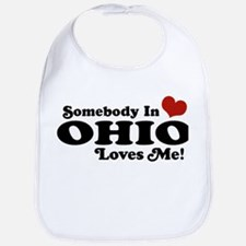 Somebody in Ohio Loves Me Bib