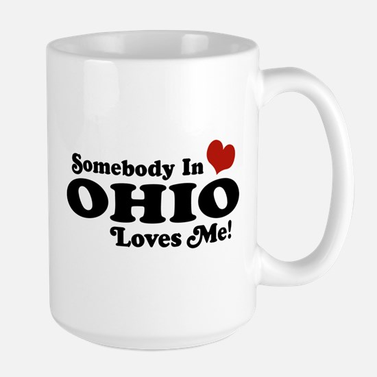 Somebody in Ohio Loves Me Large Mug