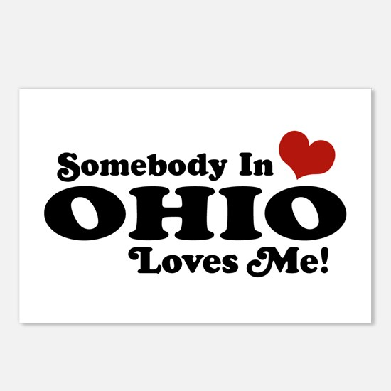 Somebody in Ohio Loves Me Postcards (Package of 8)