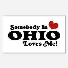 Somebody in Ohio Loves Me Rectangle Decal