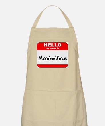 Hello my name is Maximilian BBQ Apron