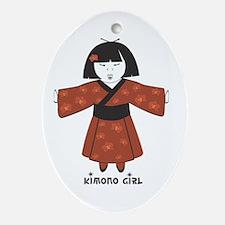 Kimono girl Keepsake (Oval)