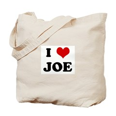 I Love JOE Tote Bag
