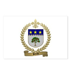 BREAU Family Crest Postcards (Package of 8)