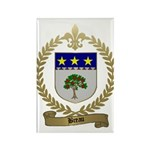 BREAU Family Crest Rectangle Magnet (100 pack)