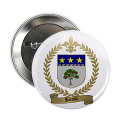 BREAUX Family Crest Button