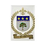 BREAUX Family Crest Rectangle Magnet (100 pack)