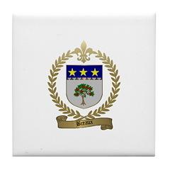 BREAUX Family Crest Tile Coaster