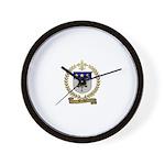 BREAUX Family Crest Wall Clock