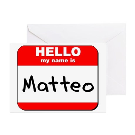 Hello my name is Matteo Greeting Cards (Pk of 20)