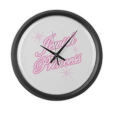 Jewish Princess - Pink Large Wall Clock