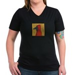 Hooded Crow Women's V-Neck Dark T-Shirt