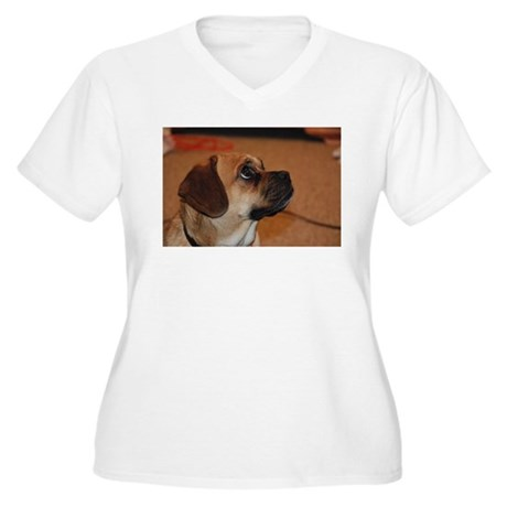 Dog-puggle Women's Plus Size V-Neck T-Shirt
