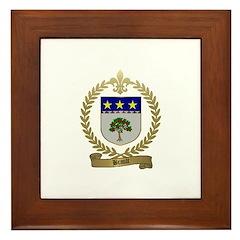 BRAULT Family Crest Framed Tile