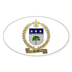 BRAULT Family Crest Oval Decal