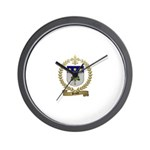 BRAULT Family Crest Wall Clock