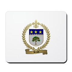 BRAUD Family Crest Mousepad