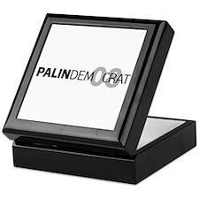Palin Democrat 08 Keepsake Box