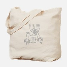 Torah Scroll & Menorah Tote Bag