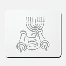 Torah Scroll & Menorah Mousepad