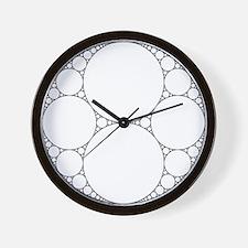 'Twin' Circle-Packing Fractal Wall Clock