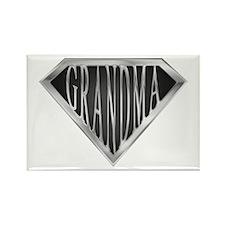 SuperGrandma(metal) Rectangle Magnet