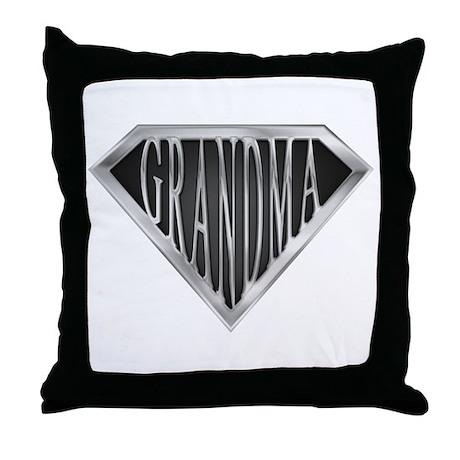 SuperGrandma(metal) Throw Pillow