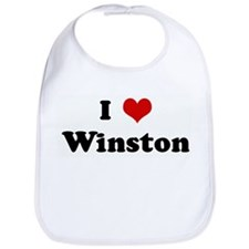 I Love Winston Bib