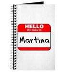 Hello my name is Martina Journal