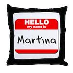 Hello my name is Martina Throw Pillow